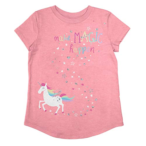 Jumping Beans Little Girls' 4-12 ONE of A Kind Tee 5 Pink