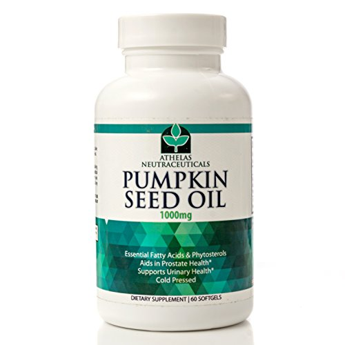 Pumpkin Seed Oil 1000mg - Non-GMO Premium Cold Pressed Prostate and Urinary Tract Support - Bladder Regulation and Control - Softgel Capsules