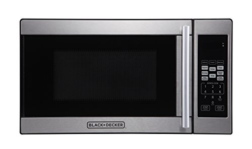 Black + Decker 0.7 Cubic Foot 700 Watt Stainless Steel Microwave with Turntable by BLACK+DECKER