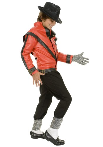 [Charades Child's Michael Jackson Thriller Costume Jacket, Red, Medium] (Thriller Video Costumes)