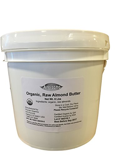 Artisana Organics Non GMO Raw Almond Butter, 8 lbs
