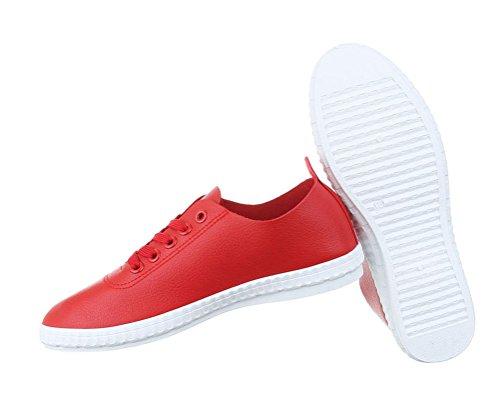 Sneakers Rot Sportschuhe Sportschuhe Turnschuhe Freizeitschuhe Damen Schuhe q8Ewa