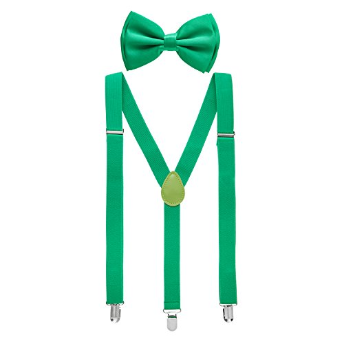Man of Men - Men's Green Bowtie & Suspender -