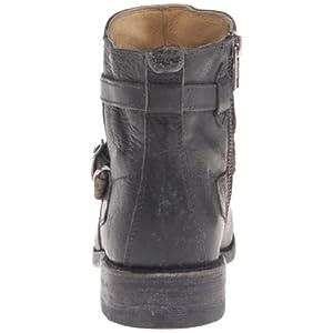 FRYE Women's Jayden Cross Strap Motorcycle Boot, Black, 6.5 M US