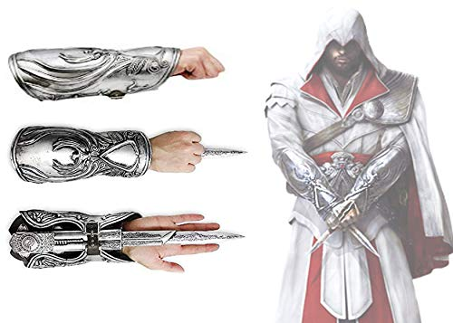 Acrim Toys Assassins Creed Brotherhood Hidden Blade Gauntlet Vambrace Cosplay Replica Halloween Play Game Fun ()