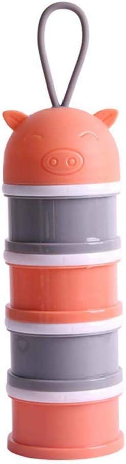 YeahiBaby Bo/îtes Dose Distributeur de Poudre de Lait B/éb/é Bo/îte Alimentaire pour le Camping de Voyage en orange