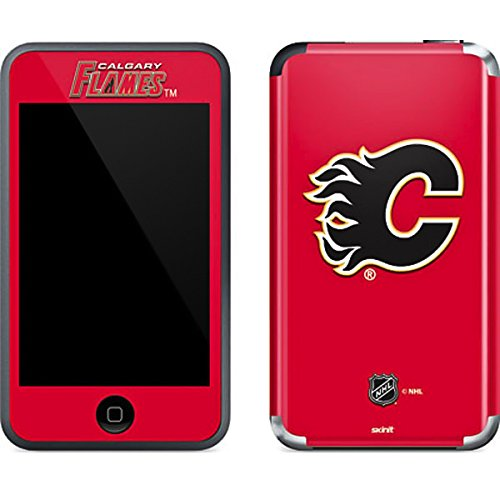 NHL Calgary Flames iPod Touch (1st Gen) Skin - Calgary Flames Solid Background Vinyl Decal Skin For Your iPod Touch (1st Gen)