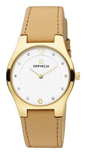 Orphelia Damen-Armbanduhr Chiaro Analog Quarz Leder