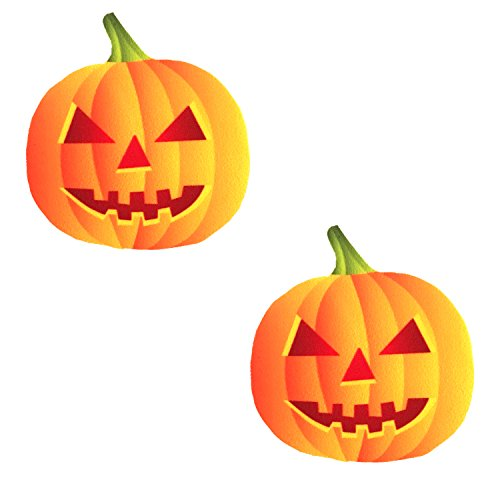 Neva Nude Spooktacular Blacklight Pumpkin Nipztix Pasties Nipple Covers ()