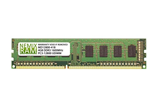 4GB DDR3-1600MHz PC3-12800 240-pin 1.5V 1Rx8 Non-ECC Unbuffered Desktop Memory RAM