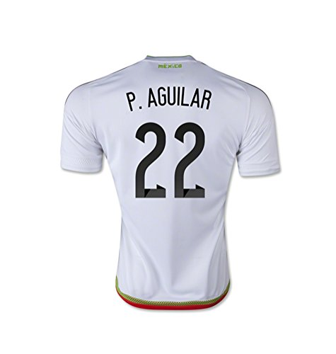 プロフェッショナル夢中スティーブンソンadidas P. AGUILAR #22 Mexico Away Jersey 15/16- Youth/サッカーユニフォーム メキシコ アウェイ用 2015-16 P. アギラール 背番号22 ジュニア向け