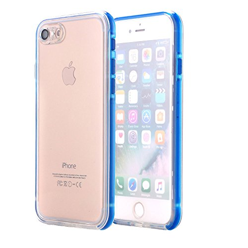 AICase iPhone 7 Plus Waterproof Case, Dust/Snow Proof Shockproof Clear Protective Case Full-Sealed IPX-6 Waterproof Cover for iPhone 7 Plus(5.5 inch) Support Fingerprint(Blue)
