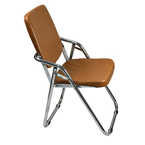Yi Hai Folding Chair Thick Padded,new Style,metal, Brown,set