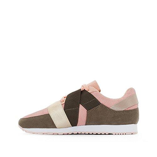 La Redoute Collections Frau Ultraleichte Sneakers mit Dehneinsatz Gre 36 Grn