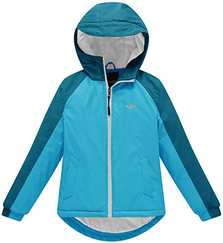 Wantdo Girl's Soft Fleece Lining Winter Jacket Raincoats with Hood Thick Casual Wear