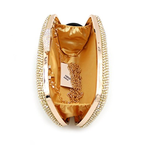 Del Di Gold Sacchetto Borsa Donne Di Sera Cristallo Lusso Diamante Di Delle end High Del HRq6S
