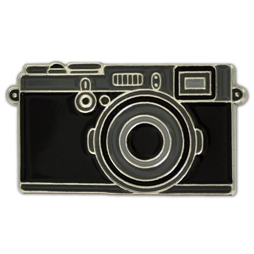 PinMart's Black Camera Photography Lover Enamel Lapel Pin