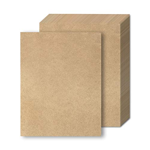 Brown Kraft Paper - 48-Pack Letter Sized Stationery Paper 8.5 x 11 - Recycled Paper Cardstock