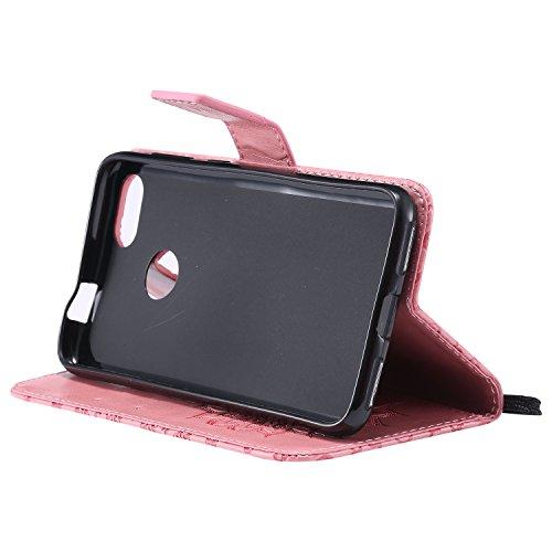 Motif BONROY Case Coque Folio de Rotin Lite Cuir Wallet Huawei Slim Housse Fit PU Slim cuir Huawei mini Etui en Portefeuille pour pour Leather Poudre Bookstyle Rétro Ultra P9 P9 Portefeuil Smart Fleurs Cover qq6PnxSU