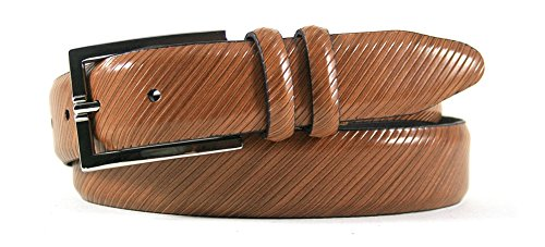 Bill Lavin Belts (Leather Island 35mm Diagonal Hand Finished Tan Leather)