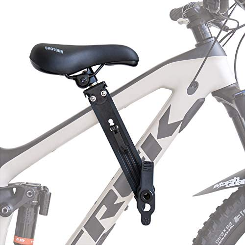 SHOTGUN Kids Bike Seat for Mountain Bikes Front Mounted Bicycle Seats for Children 2-5 Years up to 48 Pound Compatible with All Adult MTB Easy to Install
