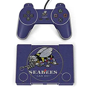 Skinit Seabees Can Do Playstation Classic Bundle Skin - Officially Licensed US Navy Gaming Decal - Ultra Thin, Lightweight Vinyl Decal Protection from Skinit