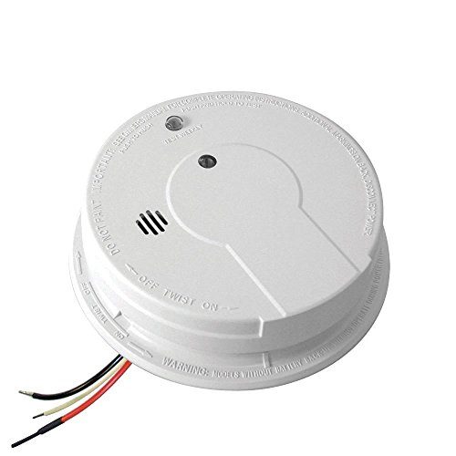 Kidde i12040 120V AC Wire-In Smoke Alarm with Battery Backup and Smart Hush *4-Pack* - Kidde Ac Wire