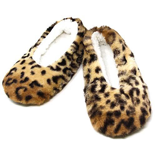 Me Plus Women Cozy Soft Fleece Lined House Indoor Winter Slippers Rubber Ball Soles