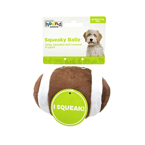 - Outward Hound Squeaky Sports Ballz Football Dog Toy with Squeaker Ball
