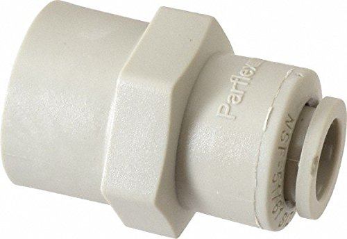Parker Hannifin A4FC4-MG TrueSeal Acetal Female Connector Fitting with EPDM Seal, 1/4'' Push-to-Connect Tube x 1/4'' Female NPTF, Gray by Parker Hannifin