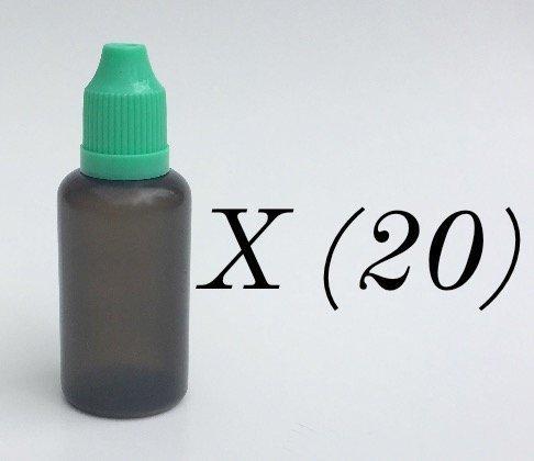 U-Need-A-Bottle  Pack Black Plastic Bottles 30 ml  - BPA FRE
