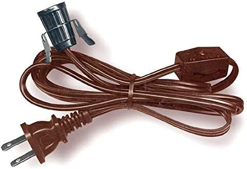 Amazon Com National Artcraft Lamp Cord Set With Clip In Socket Switch And Plug 6 Ft Heavy Duty Pkg 1 Home Kitchen