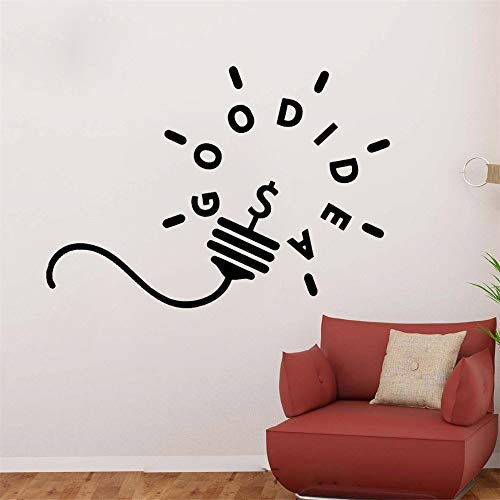 Gabriel Bloor Room Wall Stickers Quotes Light Bulb Quote Wall Good Idea Decals Motivation Sticker for Living Room Nursery Kids Bedroom