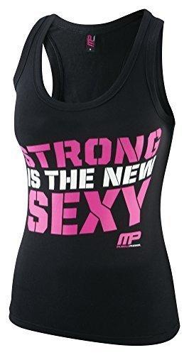 musclep Harm MPLVST432Vest–Mujer Deportes de tirantes Schwarz / Pink