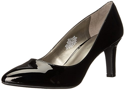 Bandolino Women's Rany Dress Pump, Black Synthetic, 9 M US Black Patent Pointed Toe Pump
