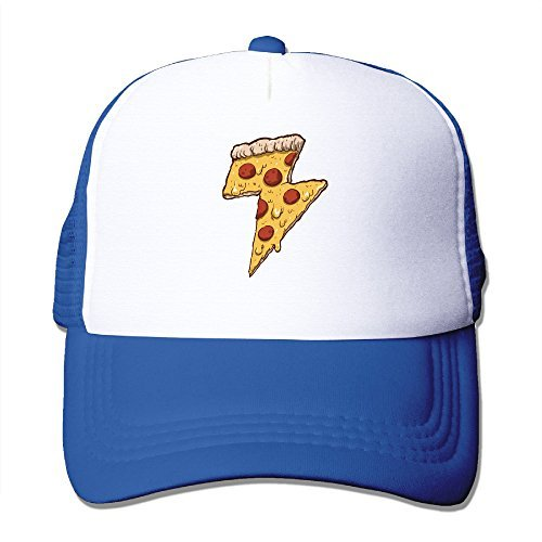 Cool Thunder Cheesy Pizza Adult Trucker Mesh Baseball Cap Hat - Trucker Nana Hat