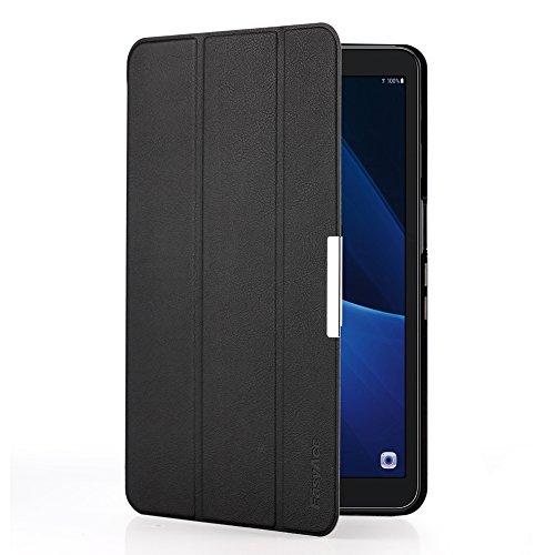 EasyAcc Ultra Dünn Samsung Galaxy Tab A 10.1 Hülle Case - mit Ständer und Auto Sleep / Wake Up Funktion Slim Leder Schutzhülle Perfekt Geeignet für Samsung Tab A 10.1 (2016) Wi-Fi/ LTE T580N/ T585N Tablet (Schwarz, Ultra Dünn)