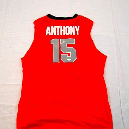 Carmelo Anthony Syracuse Orange Autographed Signed Jersey Memorabilia JSA Carmelo Anthony Syracuse Jersey