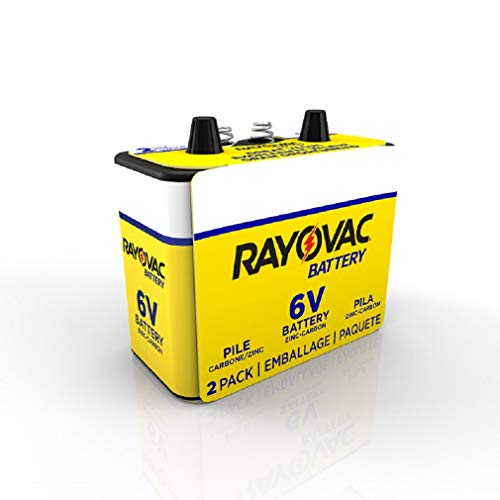 Rayovac Corporation 944-2R Heavy Duty Lantern Battery 6volt - Sleeved Pk/2