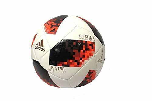 Adidas Ball Red Soccer (adidas World Cup KO Top Glider Soccer Balls (White/Solar Red/Black, 5))