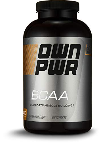 OWN PWR BCAA (Branched Chain Amino Acid ) 1000 MG per Serving (2 Capsules), 400 Capsules, Value Size ()