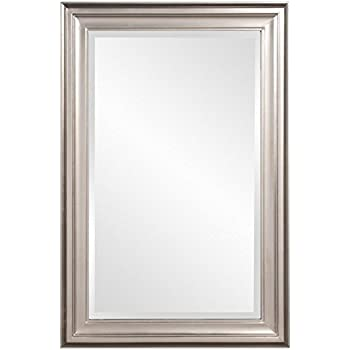 Amazon.com: Howard Elliott George Rectangular Mirror, Brushed Nickel ...
