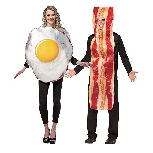 Bacon Halloween Costumes - Adult Bacon and Eggs Costume