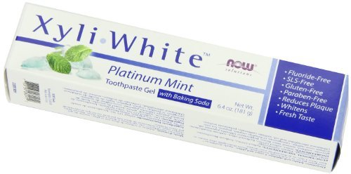 Now Foods Xyliwhite, Baking Soda Toothpaste, Platinum Mint, 6.4-Ounces Pack of 8