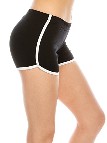 Athletic Running Exercise Gym Yoga Booty Dolphin Black Running Shorts Women Black S