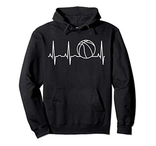 - Basketball Hoodie - Basketball Heartbeat Hooded Sweatshirt