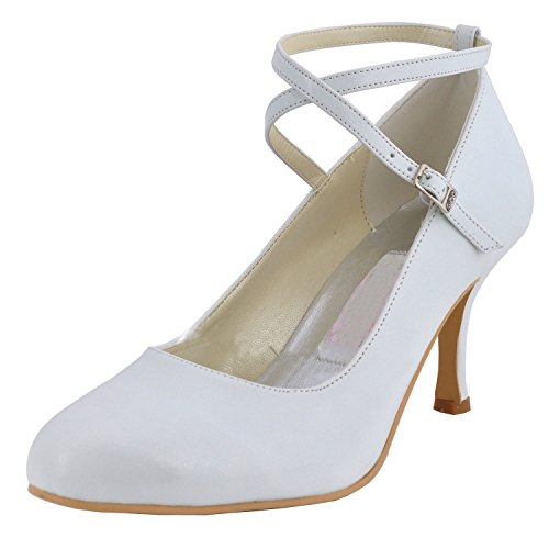 Kevin Fashion Zapatos de Boda Fashion Mujer, Color Beige, Talla 43 EU