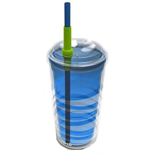 Beverage Cold Copco (Copco Lock-N-Roll Tumbler, 16-Ounce, Teal Blue)