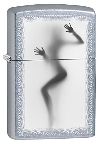 Zippo Lighter: Nude Girl Against the Glass - Street Chrome 78165
