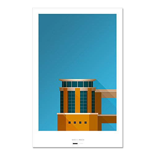 (Darrell K Royal-Texas Memorial Stadium - Minimalist Art Poster Print (11X17 Inches))
